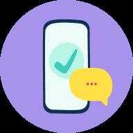 Phone - Checkmark - Chat